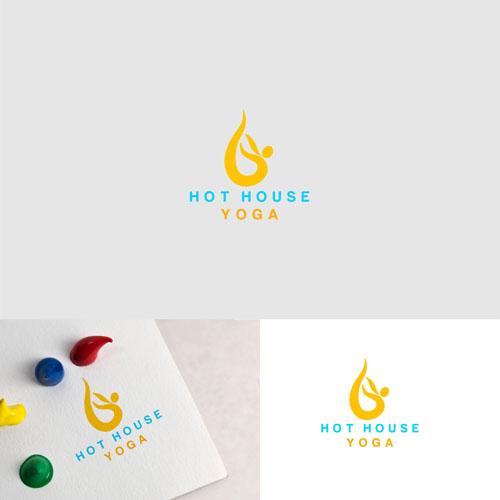 Winning Entry #16 for Logo Design contest - Simple yet creative design for Hot House Yoga. - original