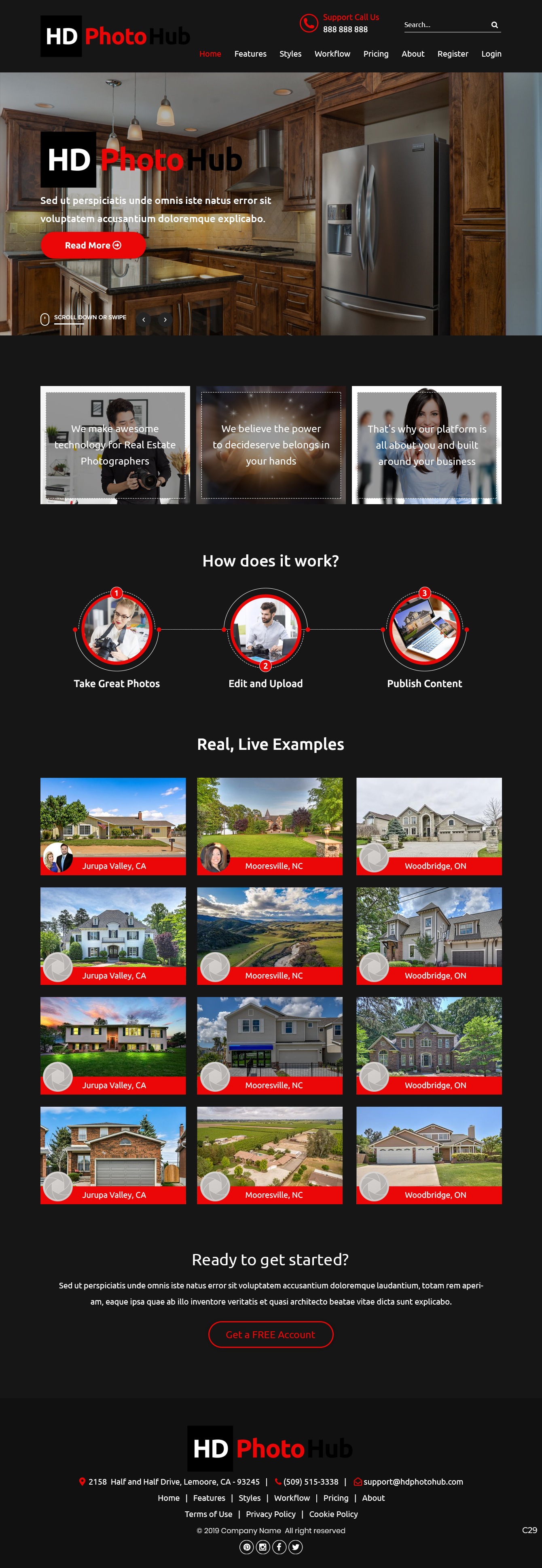 Participating Entry #7 for Website Design contest - Single Real Estate Property Listing Website Template - original