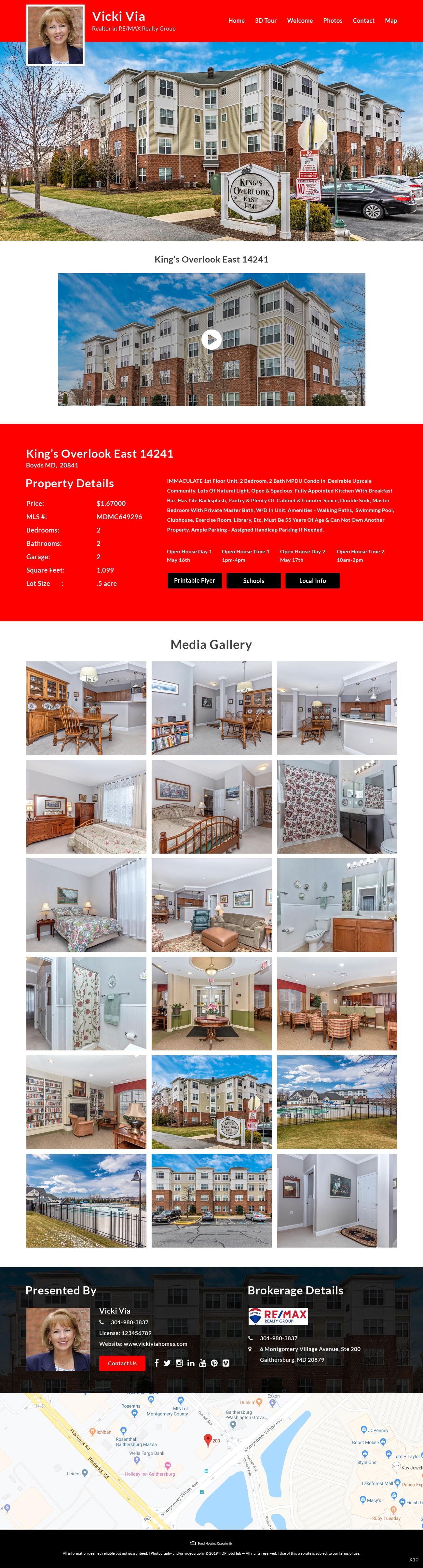 Participating Entry #16 for Website Design contest - Single Real Estate Property Listing Website Template - original