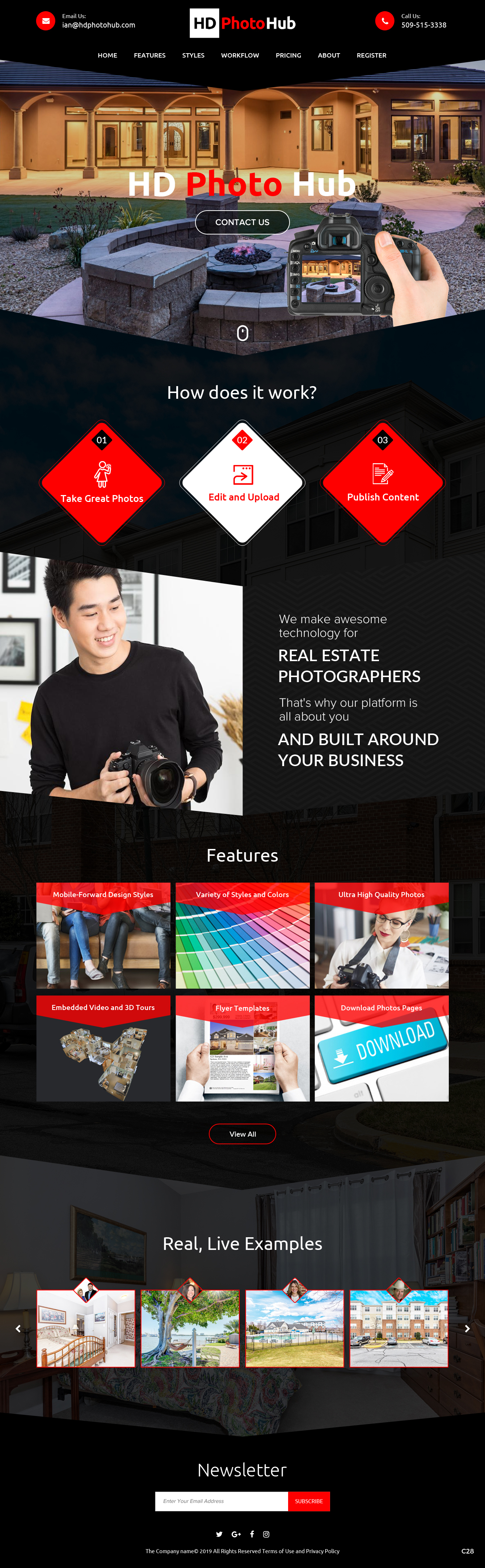 Participating Entry #6 for Website Design contest - Single Real Estate Property Listing Website Template - original
