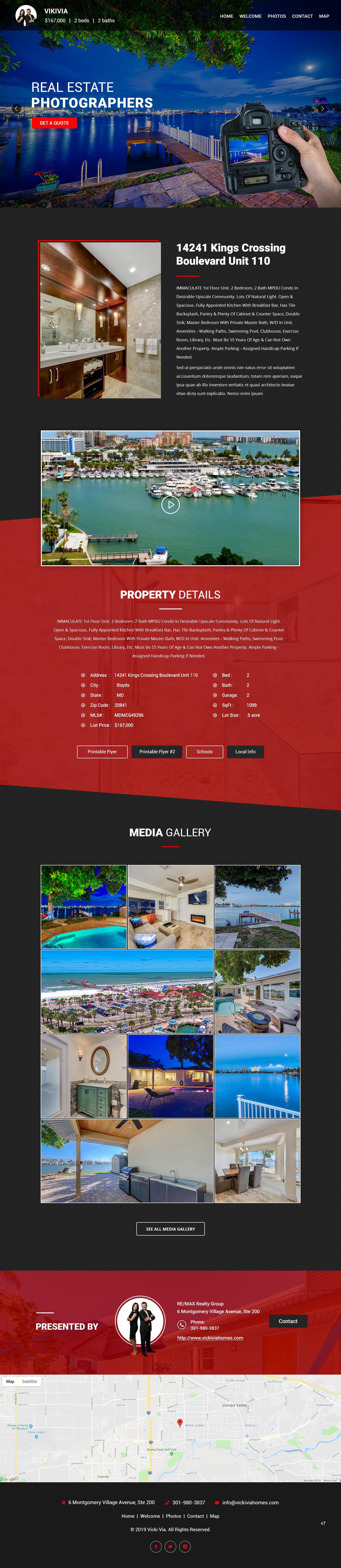 Participating Entry #12 for Website Design contest - Single Real Estate Property Listing Website Template - original