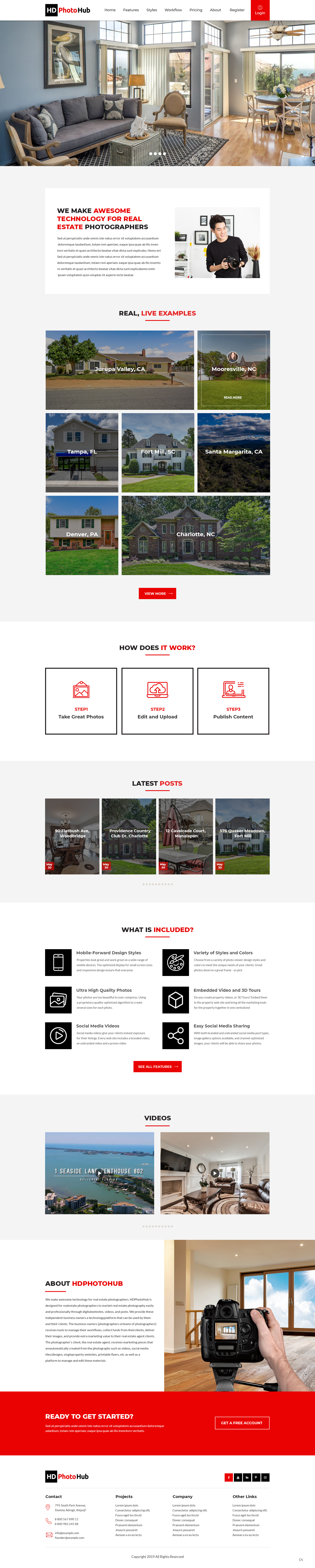 Participating Entry #2 for Website Design contest - Single Real Estate Property Listing Website Template - original