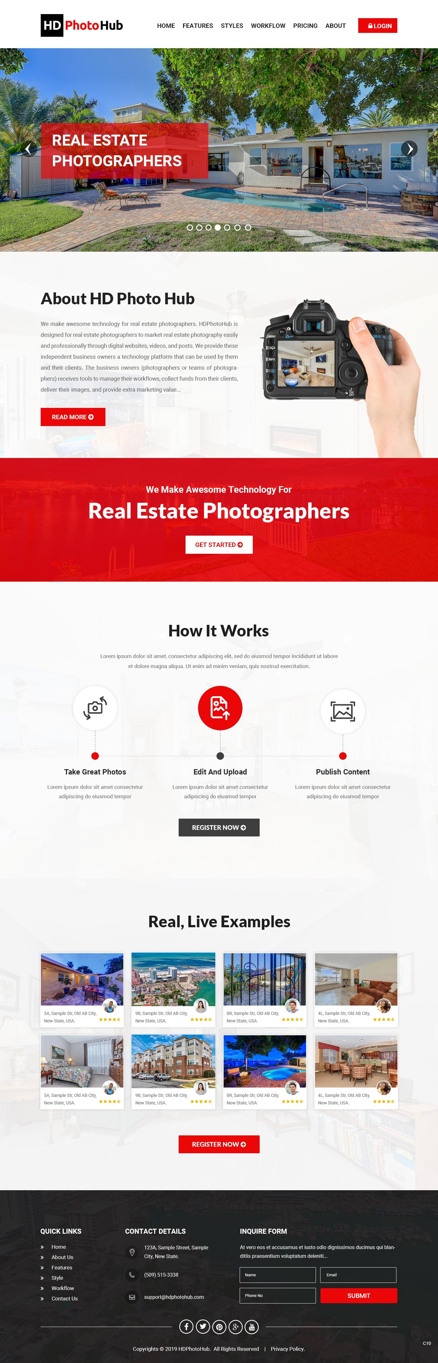 Participating Entry #4 for Website Design contest - Single Real Estate Property Listing Website Template - original
