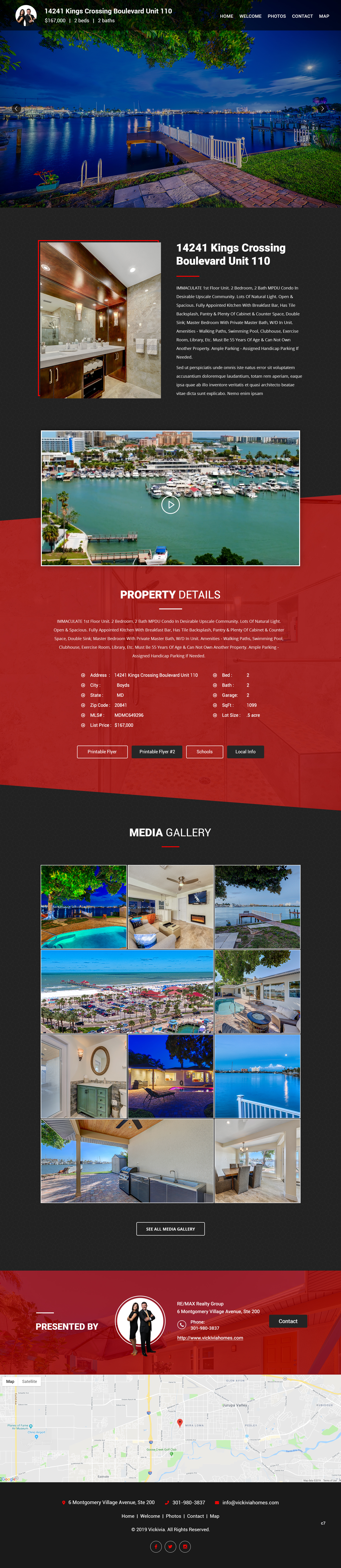 Winning Entry #15 for Website Design contest - Single Real Estate Property Listing Website Template - original