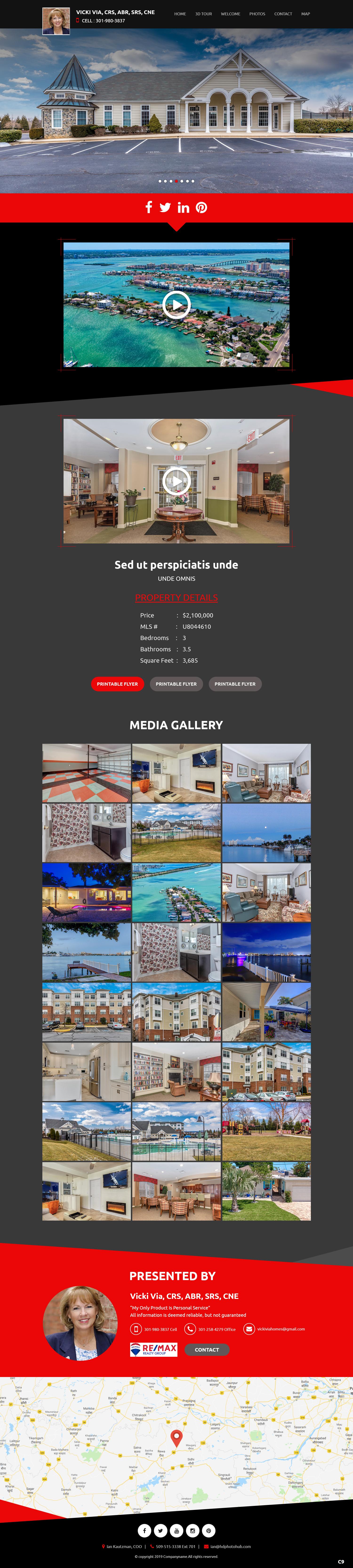 Participating Entry #17 for Website Design contest - Single Real Estate Property Listing Website Template - original