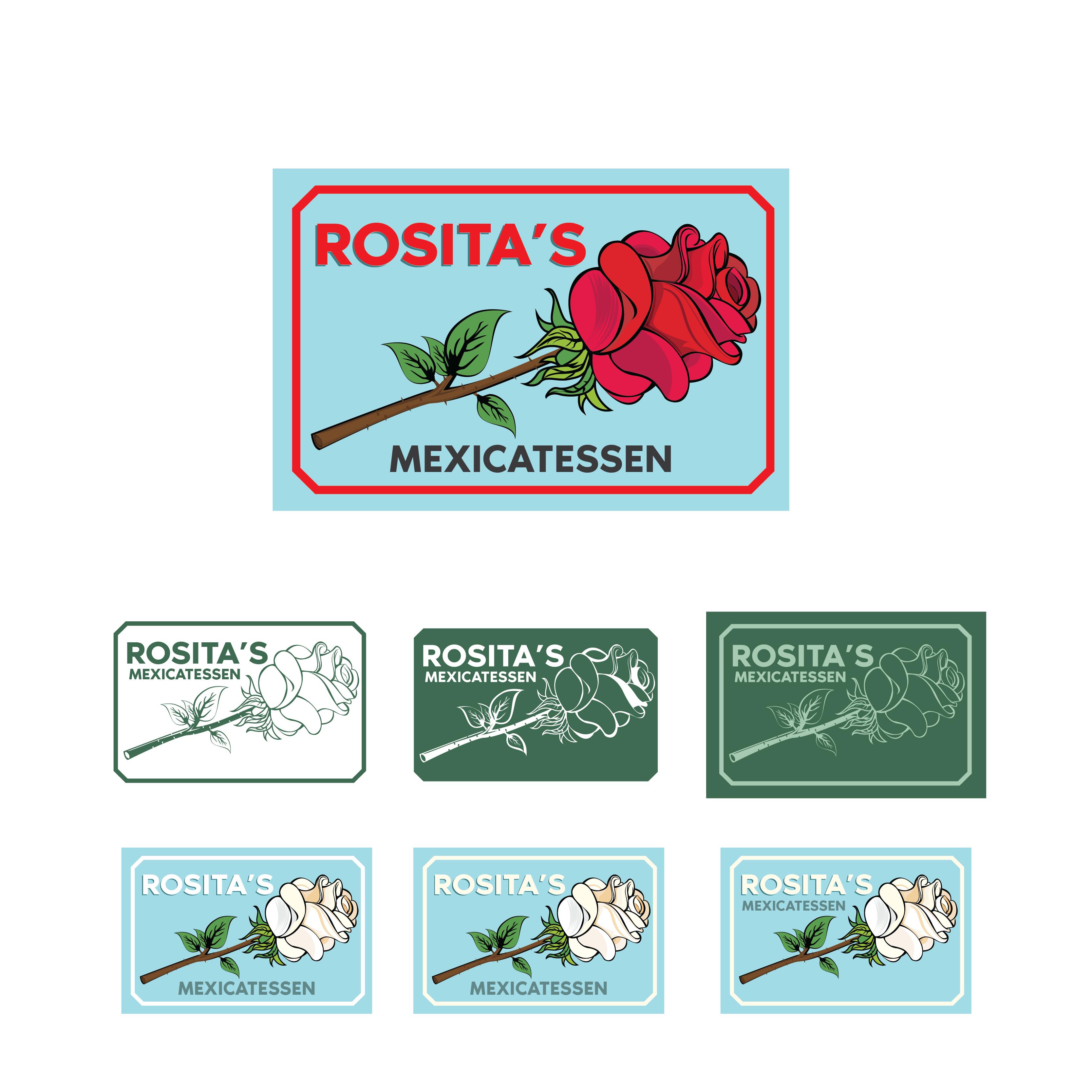 Winning Entry #55 for Logo & Social Media Pack contest - Rosita's Mexicatessen logo - original