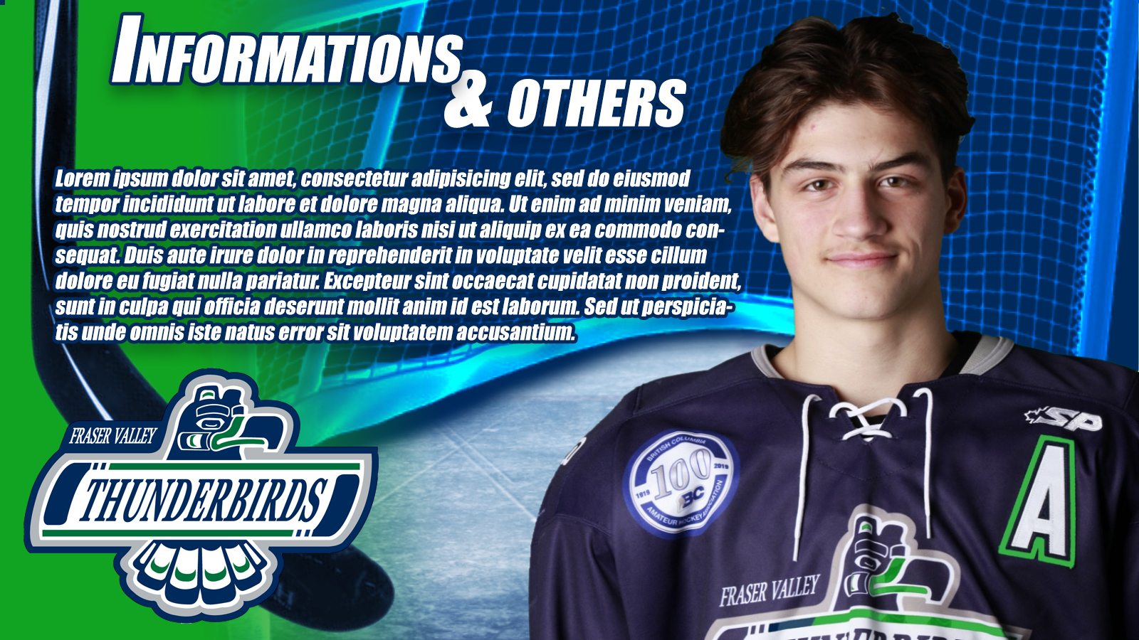 Winning Entry #22 for Banner ad Design contest - Fraser valley Thunderbirds hockey  - original