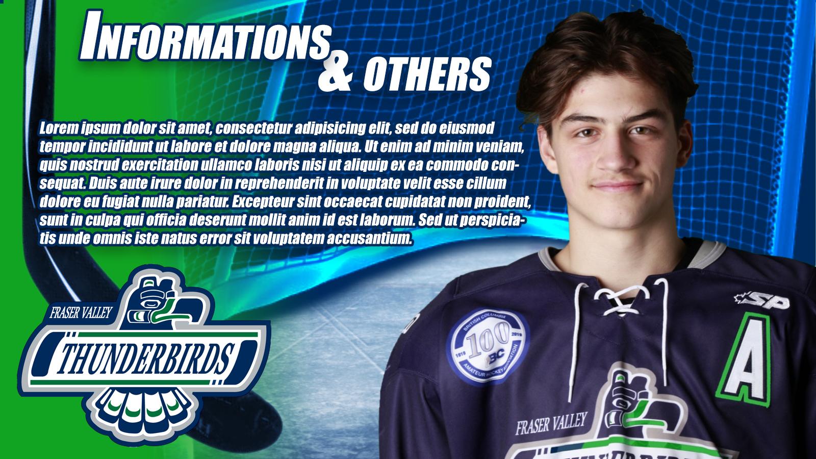 Winning Entry #22 for Banner ad Design contest - Fraser valley Thunderbirds hockey  - original