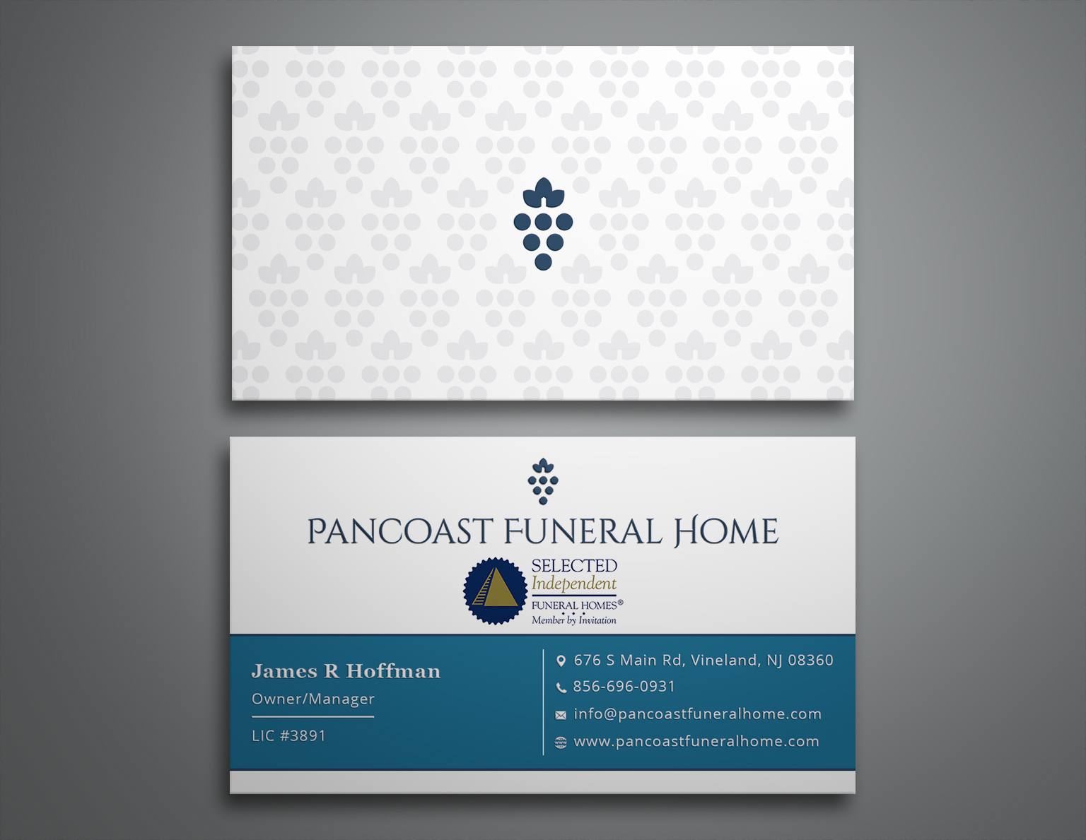 Winning Entry #78 for Business Card Design contest - Funeral Industry Business Card Design required - original