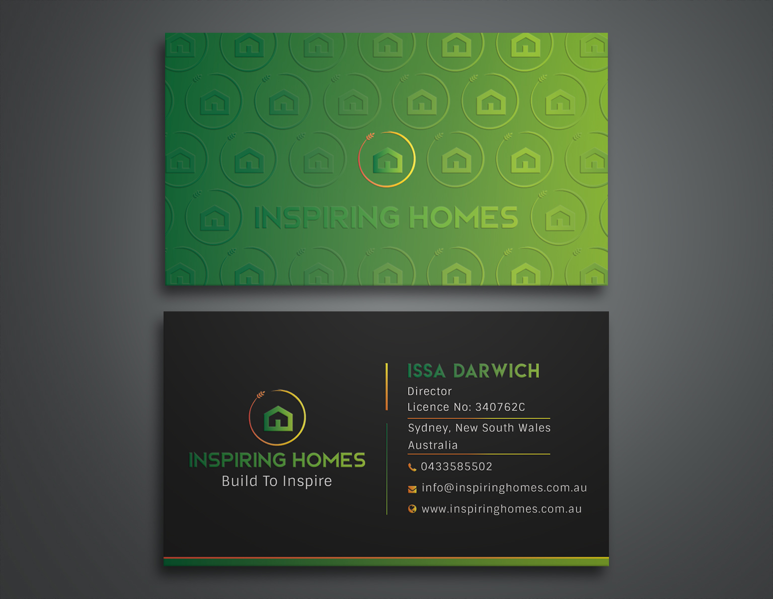 Winning Entry #105 for Business Card Design contest - Construction Business Card Design required - original