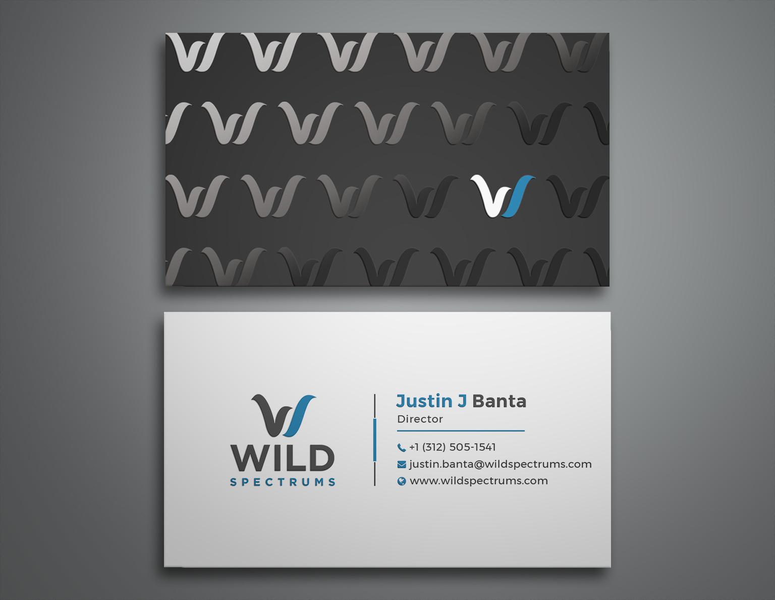 Winning Entry #62 for Business Card Design contest - Wild Spectrums LLC business cards - original