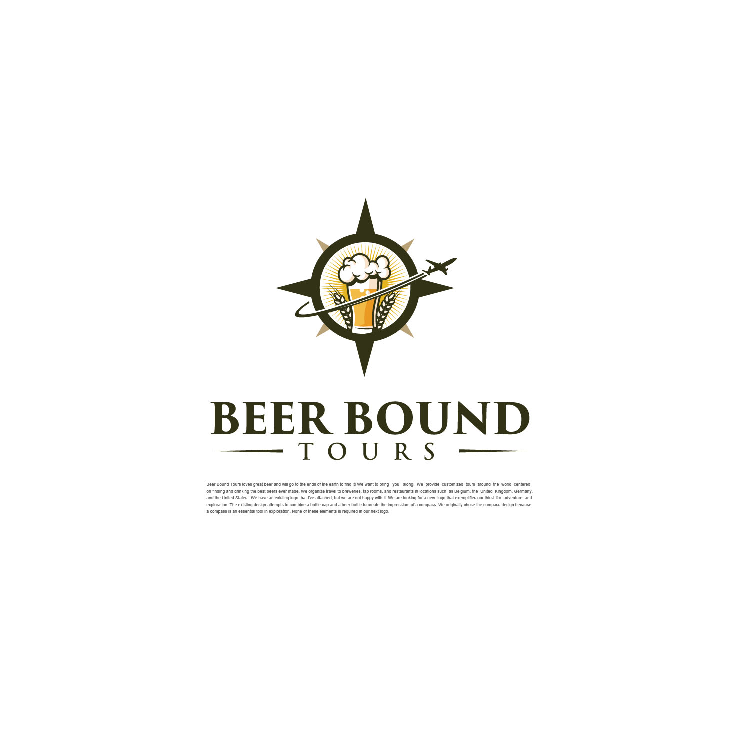 Winning Entry #14 for Logo Design contest - Beer Travel Guides Need New Logo! - original
