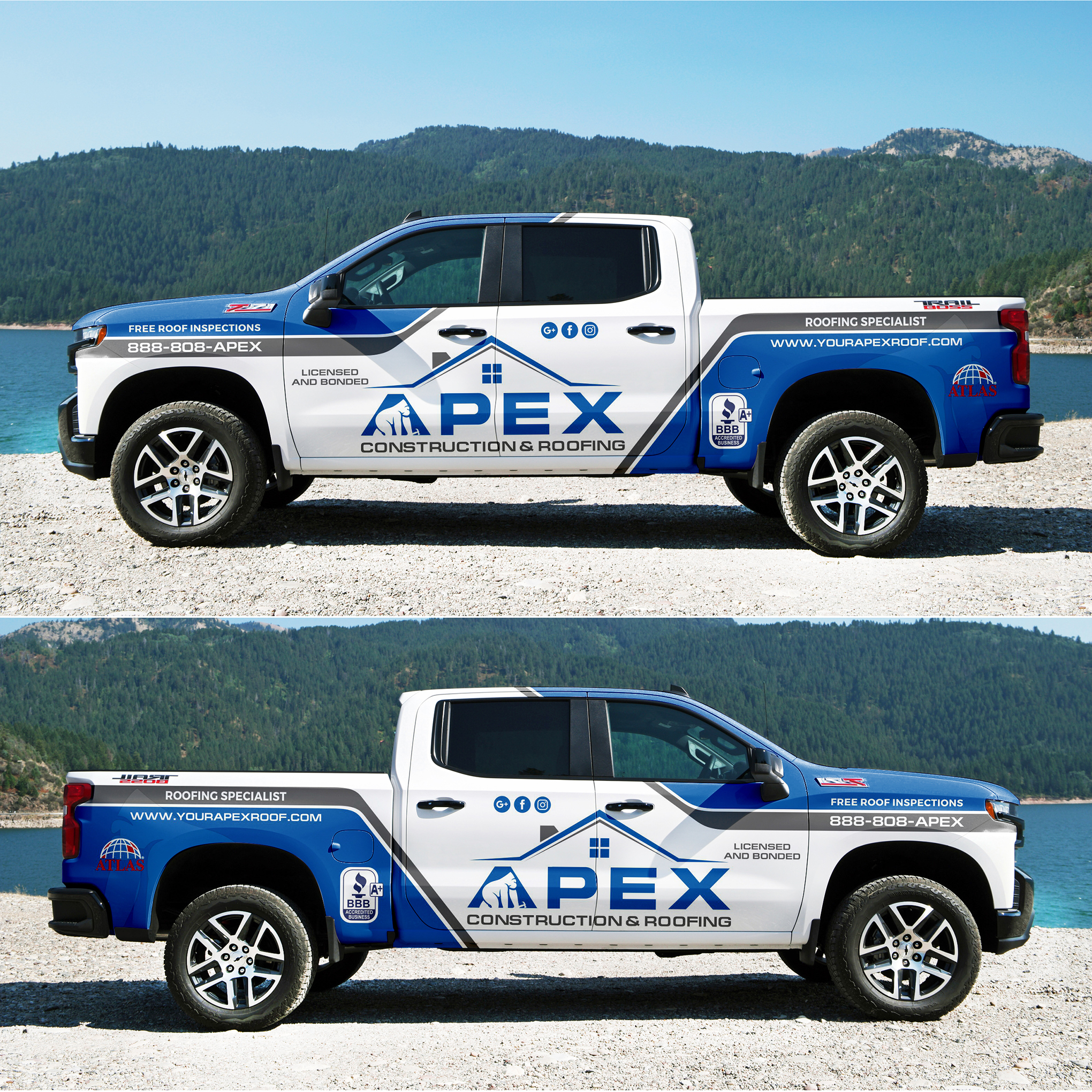 Winning Entry #6 for Car, truck or van wrap design contest - Construction Car, truck or van wrap design required - original