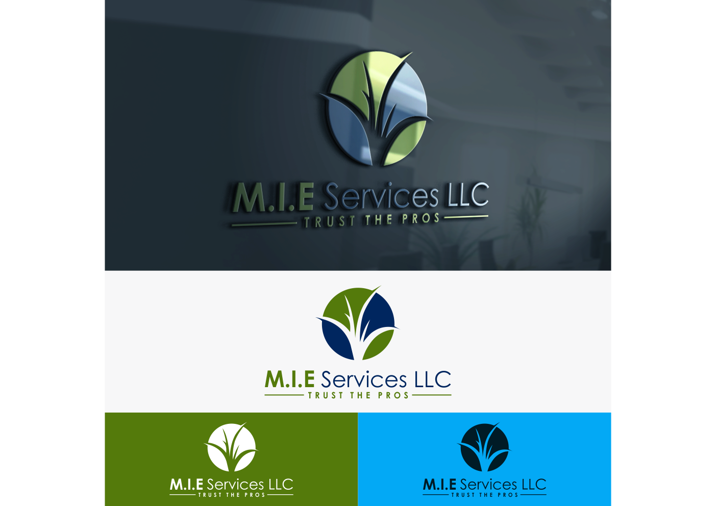 Winning Entry #9 for Logo Design contest - Landscaping Logo Design required by M.I.E Services LLC - original
