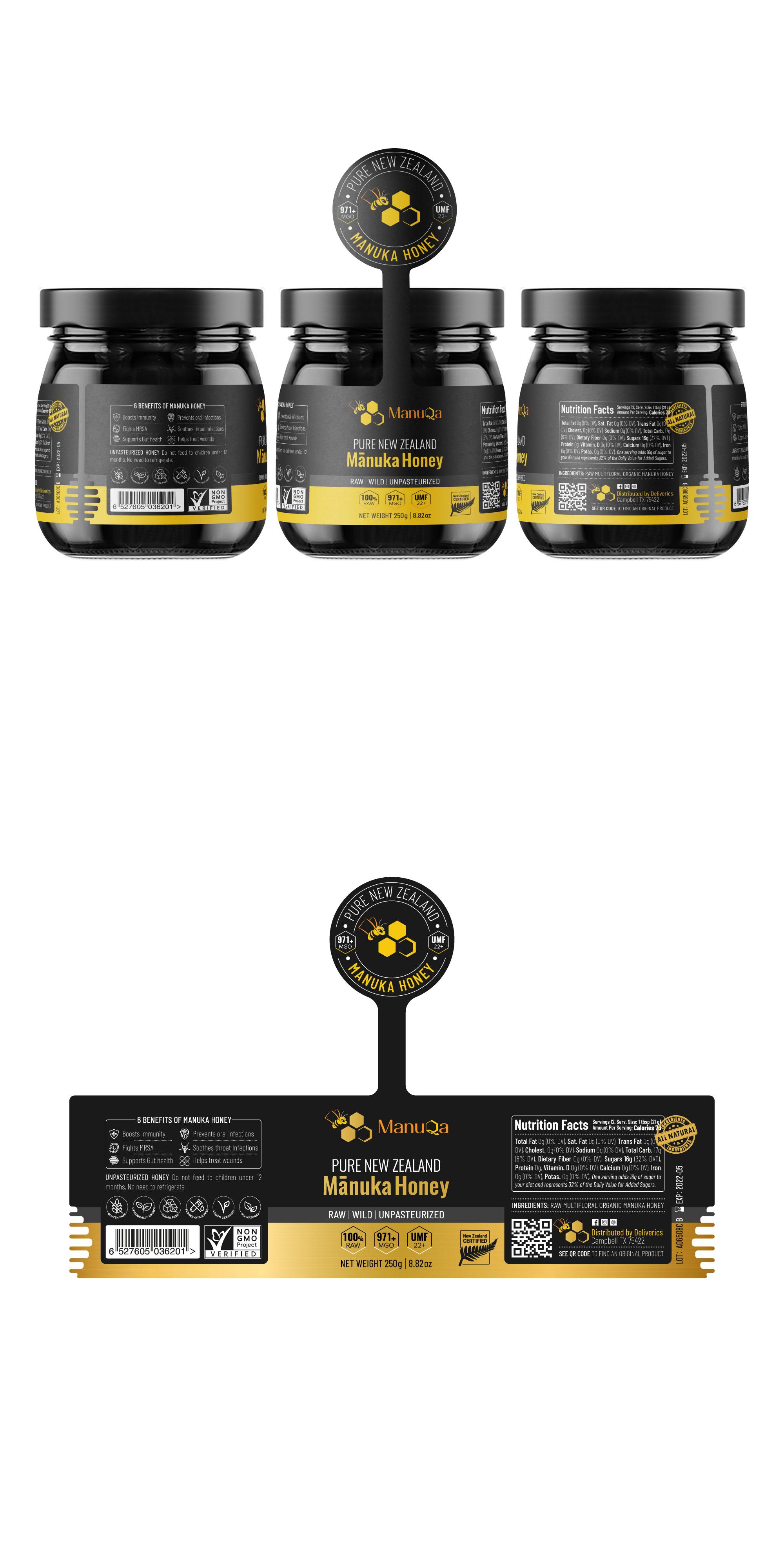 Winning Entry #77 for Label Design contest - Honey Jar Label Design required - original