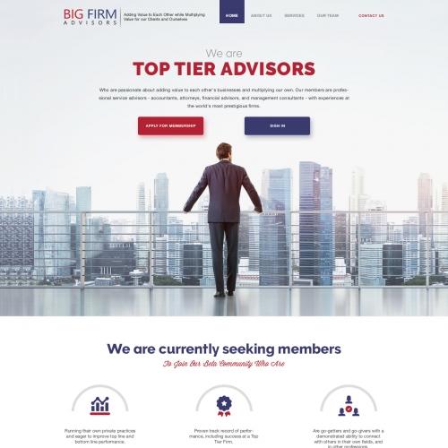 Winning Entry #10 for Website Design Contest - Membership Community Website Design for Top Tier Professional Service Advisors