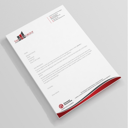 Charming Accounting Business Letterhead Design