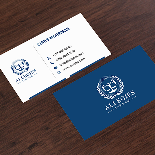 Law firm graphic design branding services create a modern minimalist business card design for allegies law firm reheart Gallery